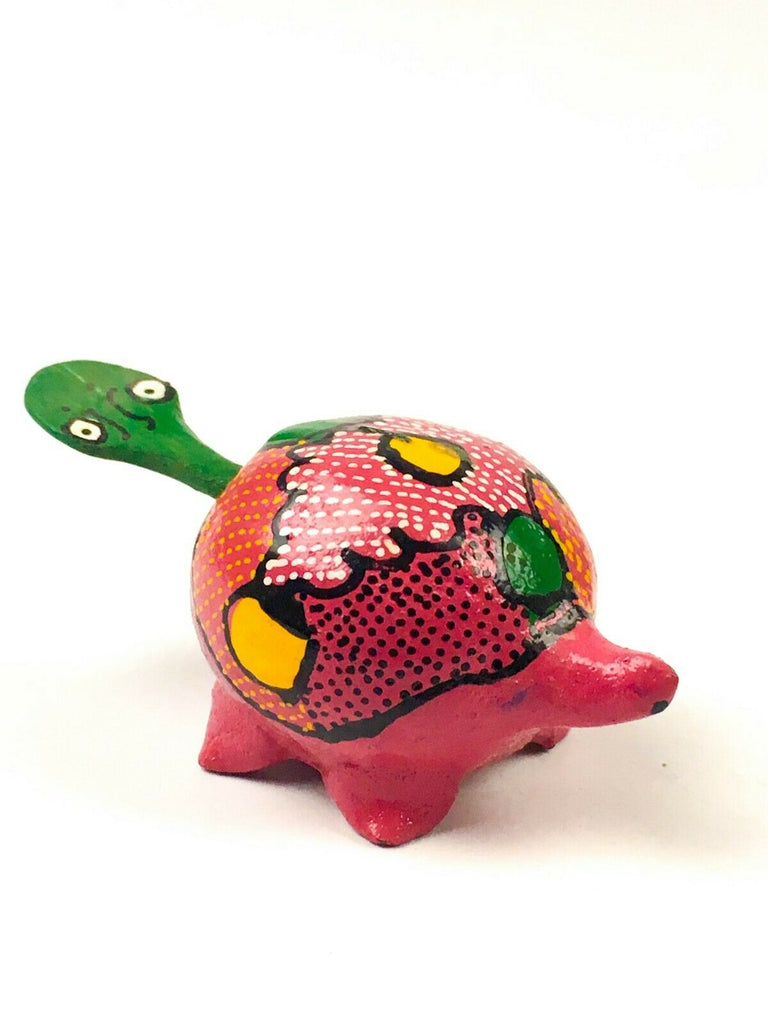 MINI TURTLE Bobblehead Alebrije Handcrafted Mexican Folk Art Sculpture - VivaMexico.com