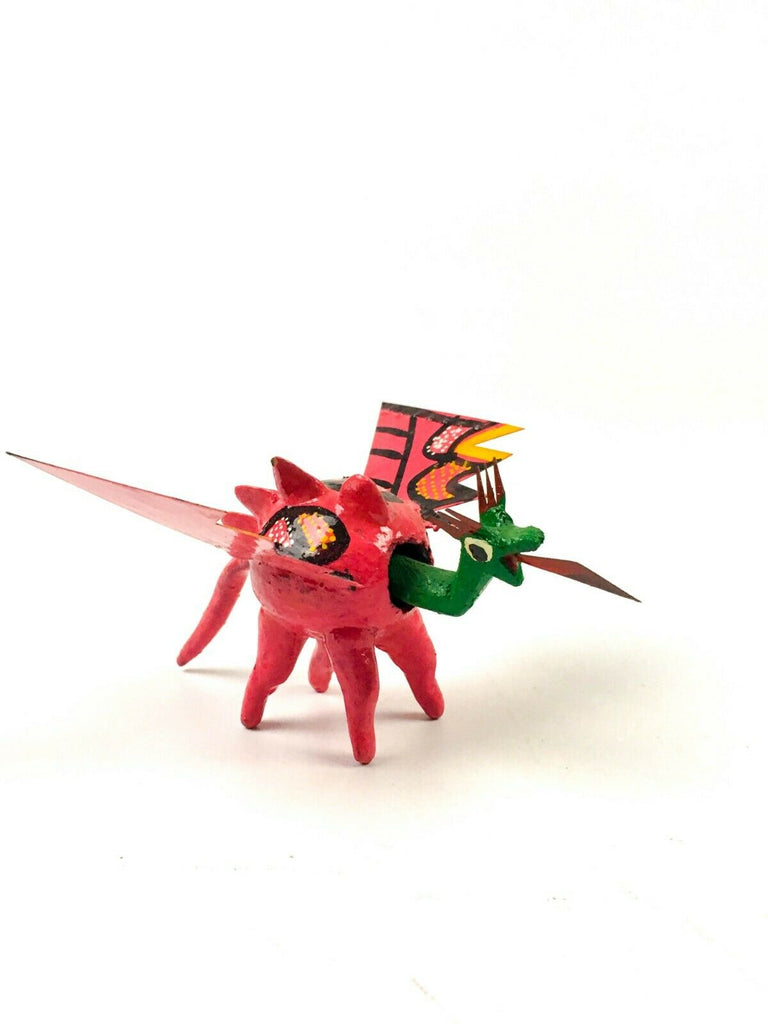 MINI DRAGON Bobblehead Alebrije Handcrafted Mexican Folk Art Sculpture - VivaMexico.com