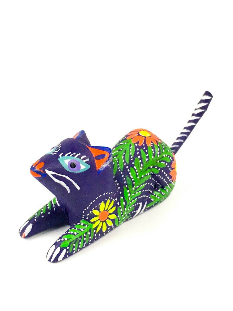 MINI MOUSE Oaxacan Alebrije Wood Carving Mexican Folk Art Sculpture - VivaMexico.com