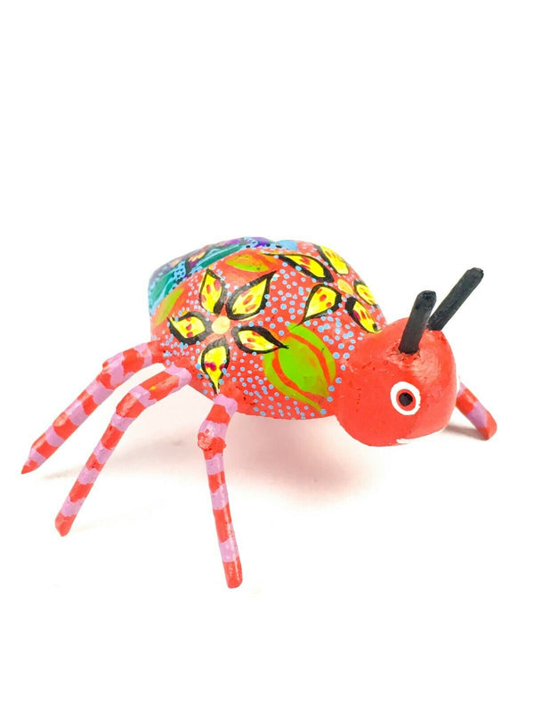 MINI BEETLE Oaxacan Alebrije Wood Carving Mexican Folk Art Sculpture