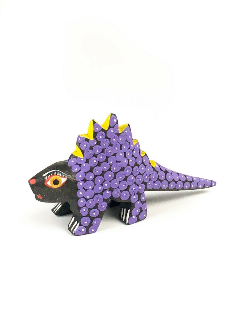 MINI DINOSAUR Oaxacan Alebrije Wood Carving Mexican Folk Art Sculpture - VivaMexico.com