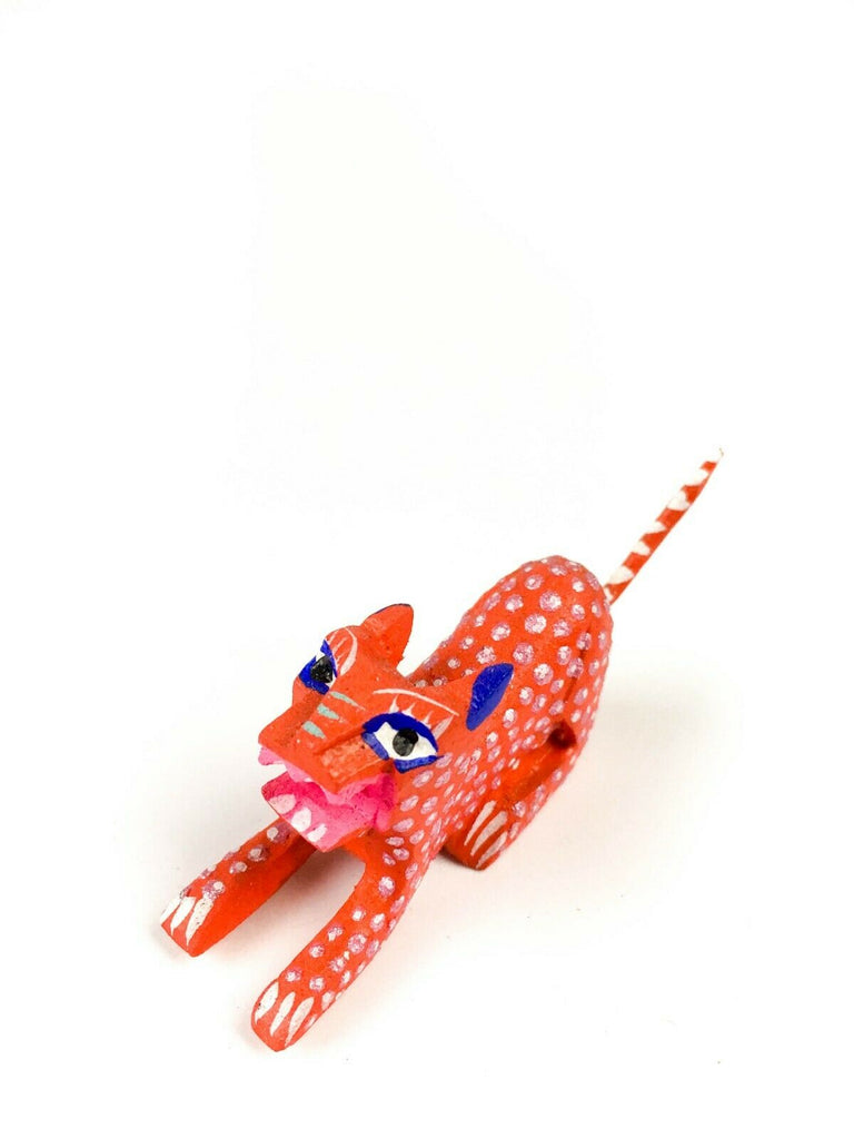 MINI JAGUAR CAT Oaxacan Alebrije Wood Carving Mexican Folk Art Sculpture - VivaMexico.com