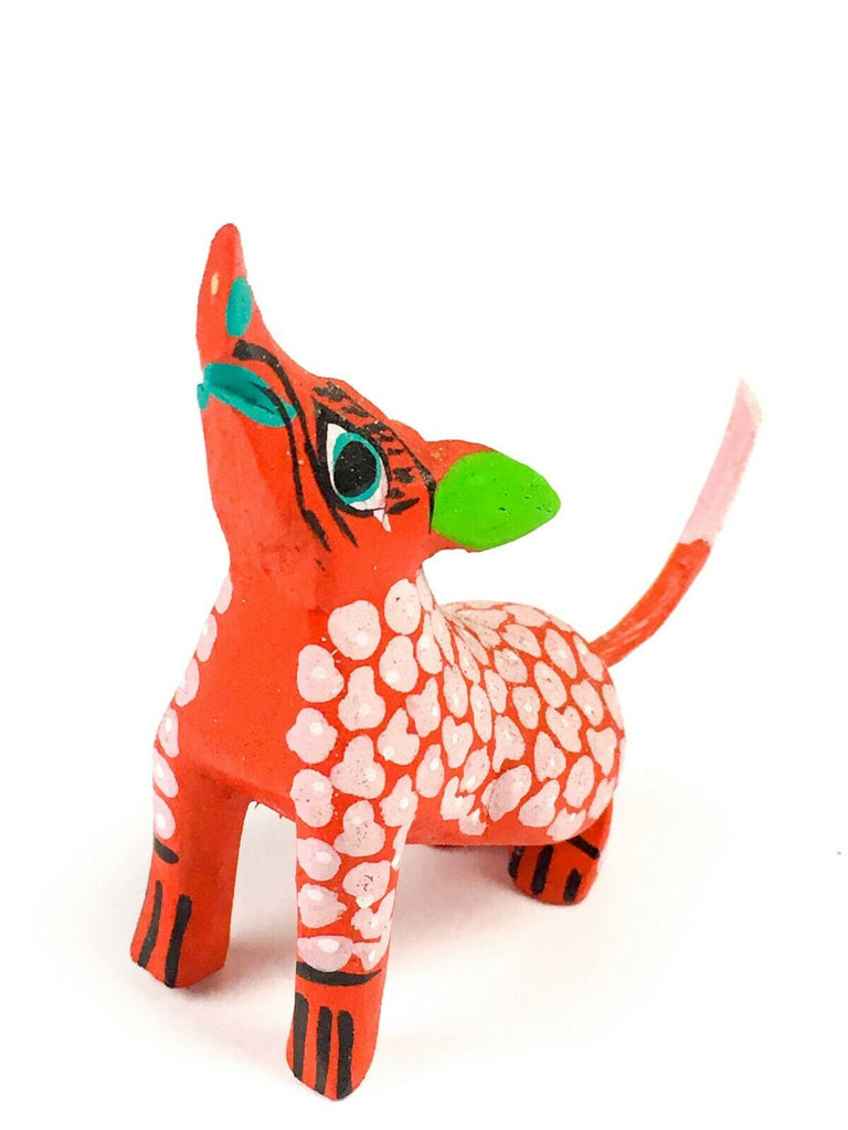 MINI COYOTE Oaxacan Alebrije Wood Carving Mexican Folk Art Sculpture - VivaMexico.com