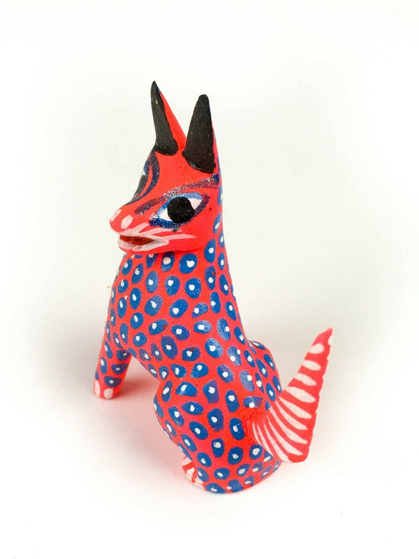 MINI FOX Oaxacan Alebrije Wood Carving Mexican Folk Art Sculpture - VivaMexico.com