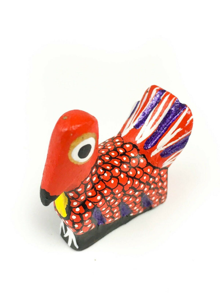 MINI TURKEY Oaxacan Alebrije Wood Carving Mexican Folk Art Sculpture - VivaMexico.com