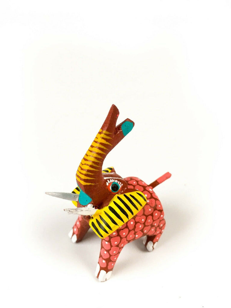 MINI ELEPHANT Oaxacan Alebrije Wood Carving Mexican Folk Art Sculpture - VivaMexico.com