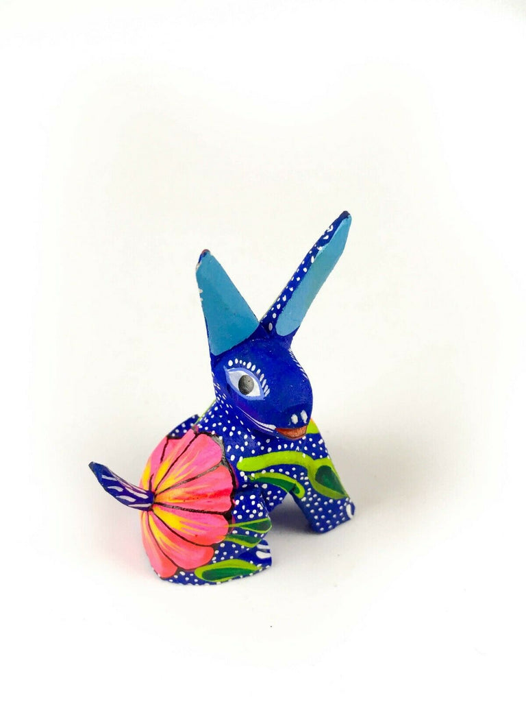 MINI RABBIT Oaxacan Alebrije Wood Carving Mexican Folk Art Sculpture - VivaMexico.com
