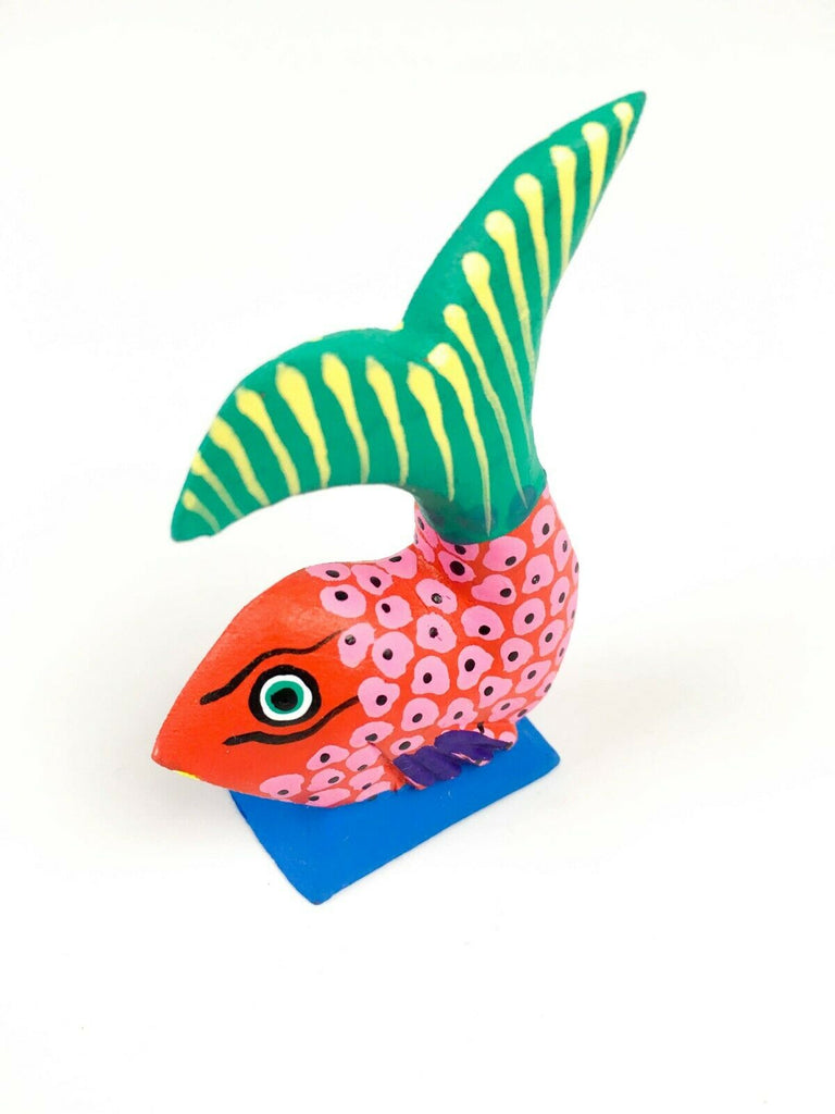 MINI FISH Oaxacan Alebrije Wood Carving Mexican Folk Art Sculpture - VivaMexico.com