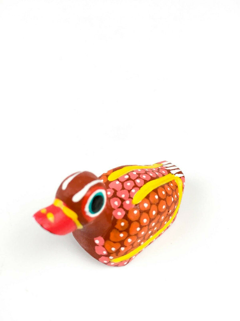MINI DUCK Oaxacan Alebrije Wood Carving Mexican Folk Art Sculpture - VivaMexico.com