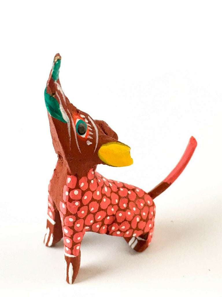 MINI HOWLING COYOTE Oaxacan Alebrije Wood Carving Mexican Folk Art Sculpture - VivaMexico.com