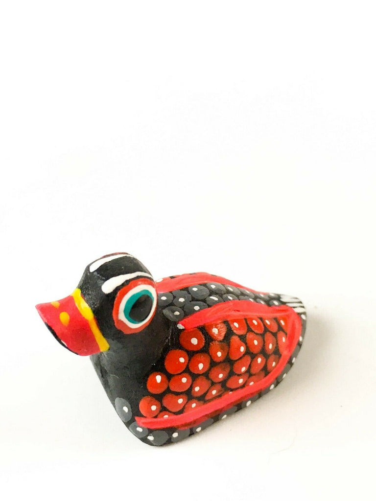 MINI DUCK Oaxacan Alebrije Wood Carving Mexican Folk Art Sculpture