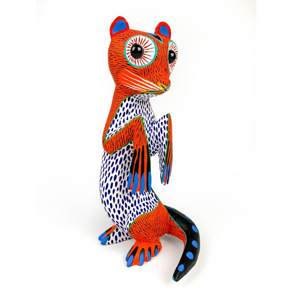 Orange Otter - Oaxacan Alebrije Wood Carving