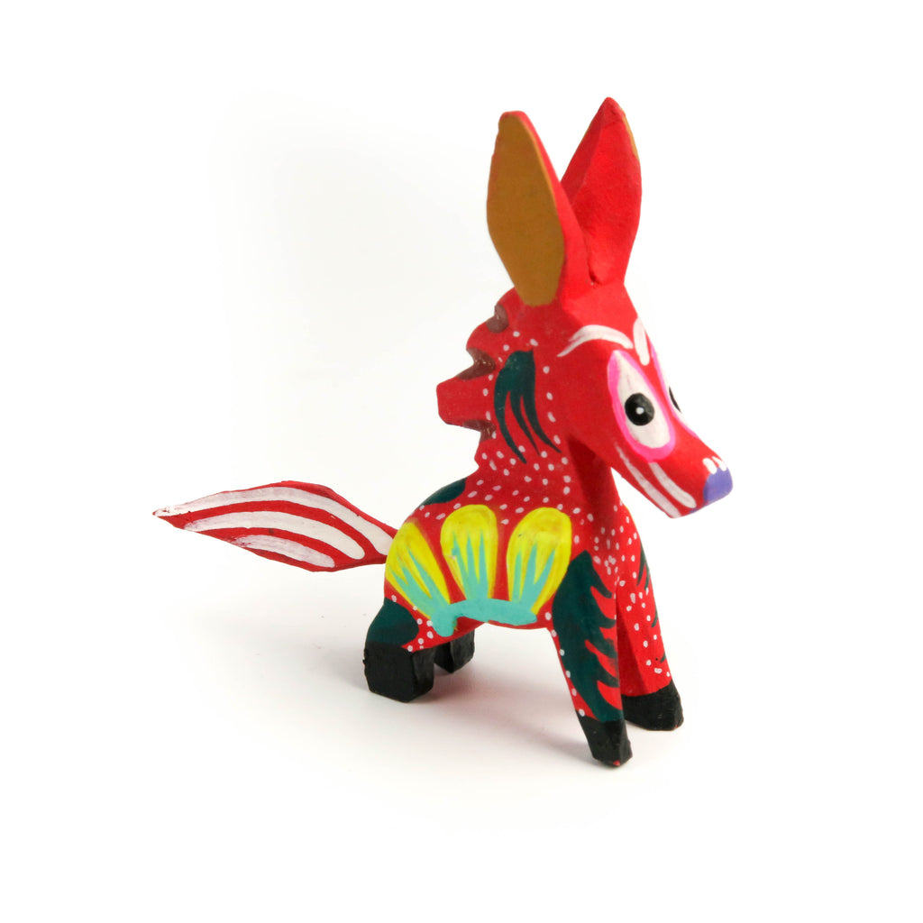 Mini Horse Oaxacan Alebrije Wood Carving Mexican Folk Art Sculpture - VivaMexico.com