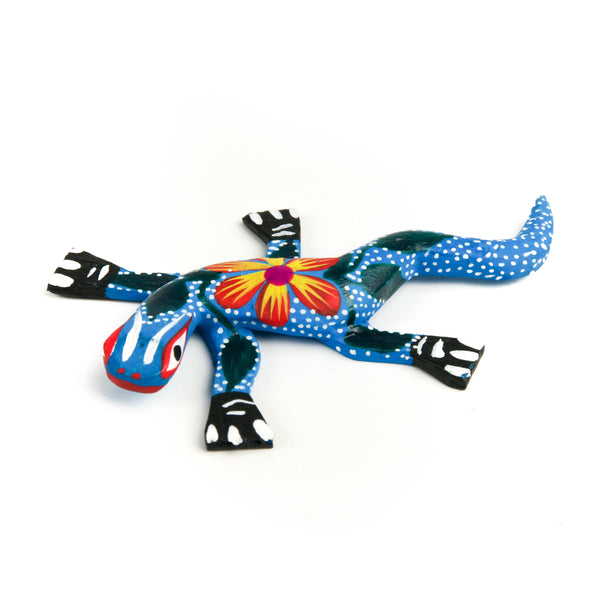 Mini Lizard Oaxacan Alebrije Wood Carving Mexican Folk Art Sculpture - VivaMexico.com