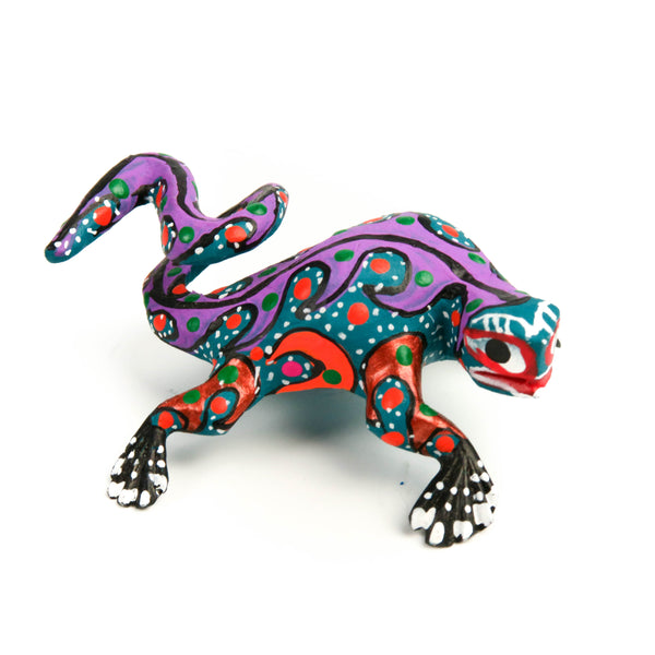 Iguana Mini Oaxacan Alebrije Wood Carving Mexican Folk Art Sculpture - VivaMexico.com