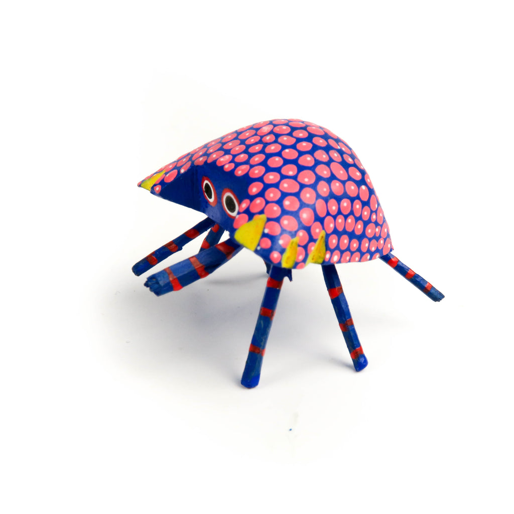 Crab Mini Oaxacan Alebrije Wood Carving Mexican Folk Art Sculpture - VivaMexico.com