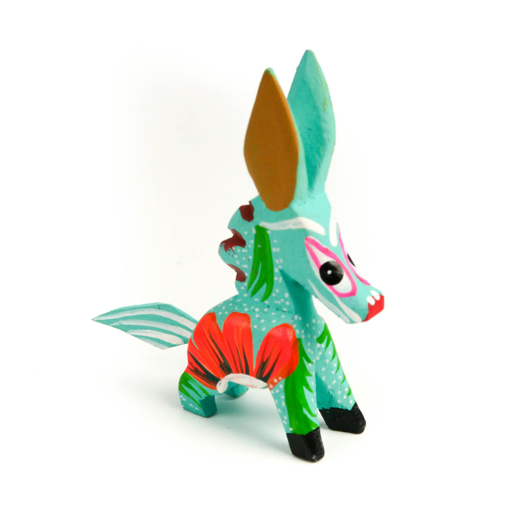 Horse Mini Oaxacan Alebrije Wood Carving Mexican Folk Art Sculpture - VivaMexico.com