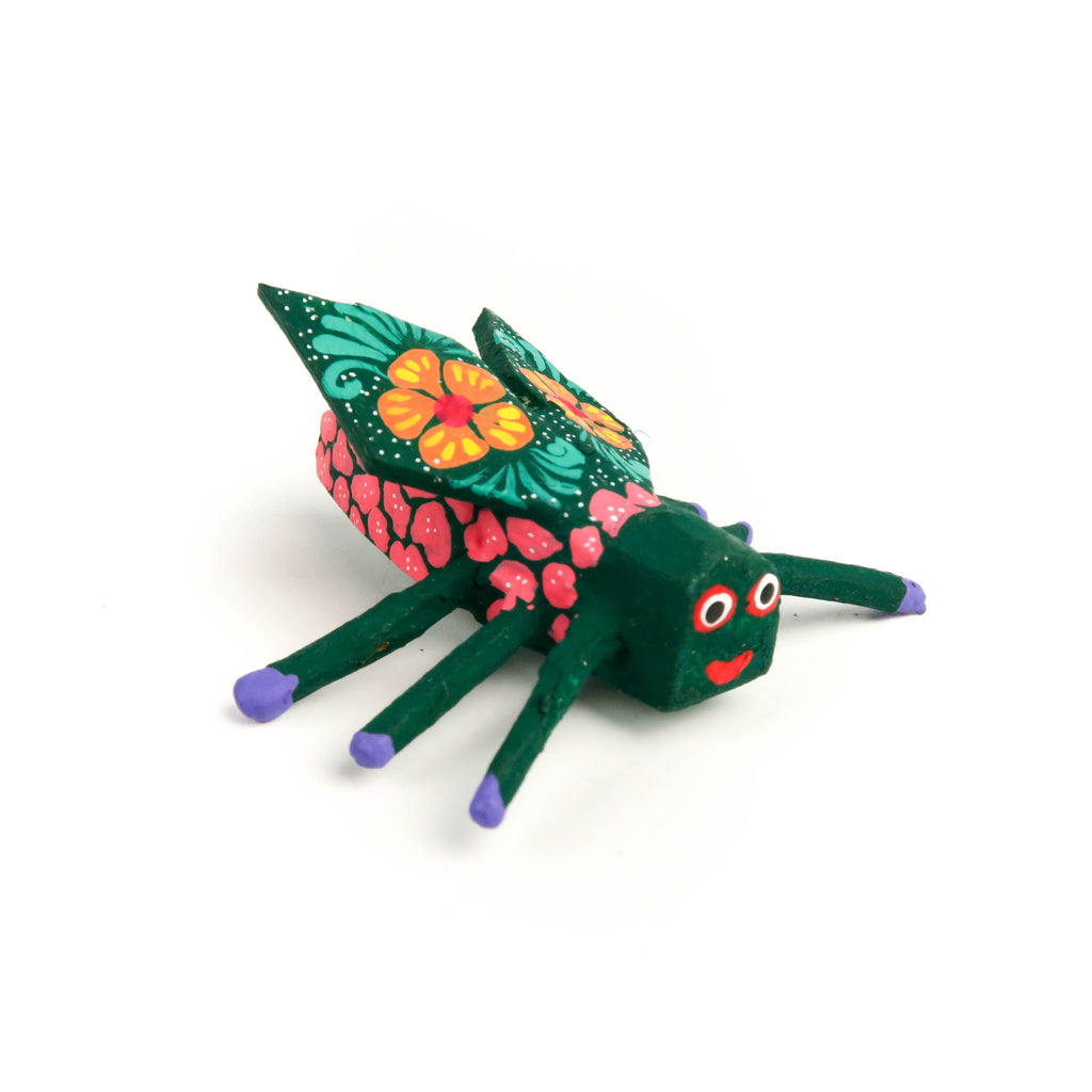 Fly Mini Oaxacan Alebrije Wood Carving Mexican Folk Art Sculpture - VivaMexico.com