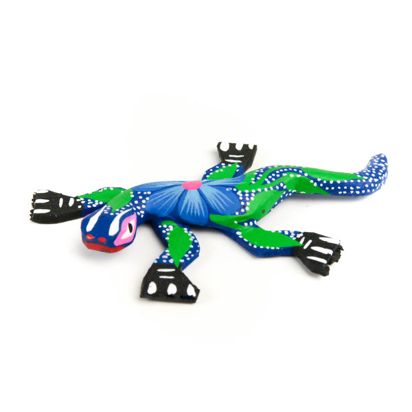 Lizard Mini Oaxacan Alebrije Wood Carving Mexican Folk Art Sculpture