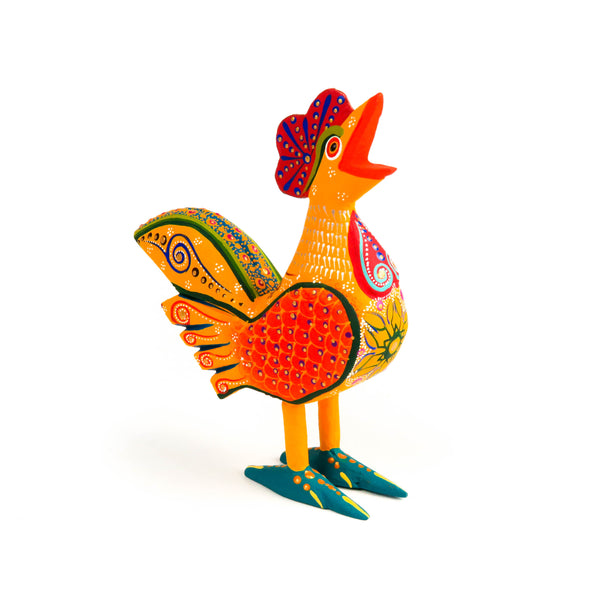 Rooster - Oaxacan Alebrije Wood Carving - VivaMexico.com