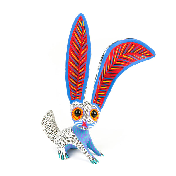White Rabbit - Oaxacan Alebrije Wood Carving