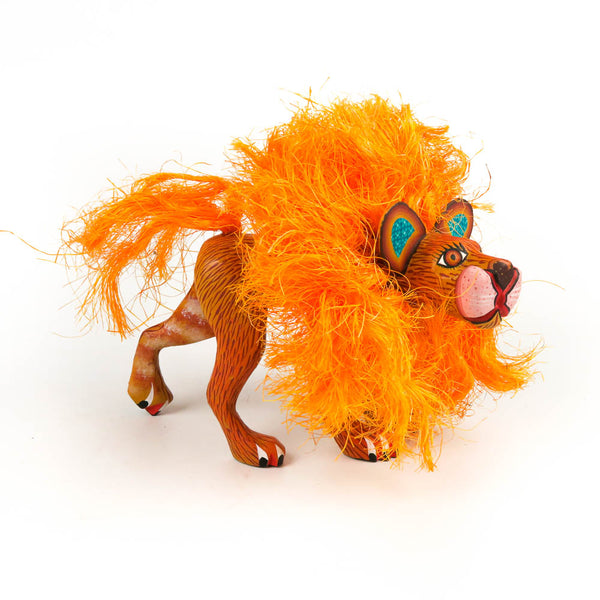 Hairy Lion - Oaxacan Alebrije Wood Carving Mexican Folk Art Sculpture