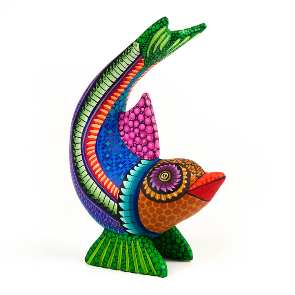 Fabulous Fish - Oaxacan Alebrije Wood Carving Sculpture