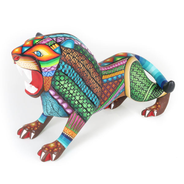 Dia De Los Muertos Skeleton With Bull - Oaxacan Alebrije Wood Carving