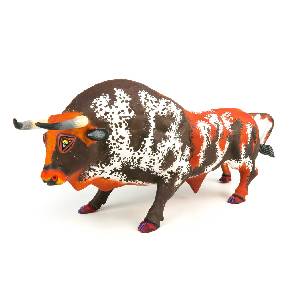 Powerful Bull - Oaxacan Alebrije Wood Carving Mexican Folk Art Sculpture - VivaMexico.com