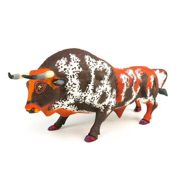 Powerful Bull - Oaxacan Alebrije Wood Carving Mexican Folk Art Sculpture