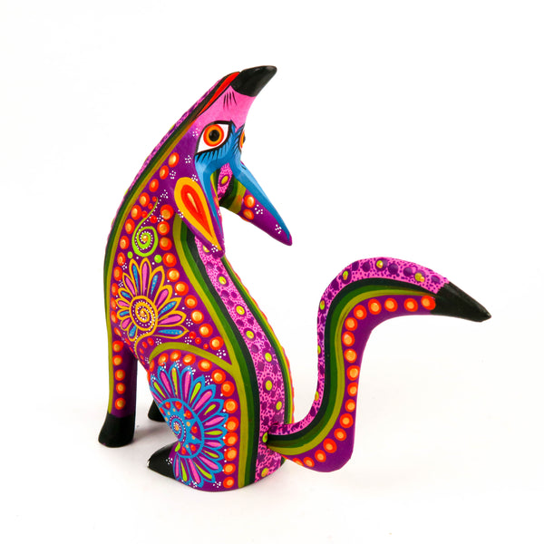 Howling Coyote - Oaxacan Alebrije Wood Carving Mexican Folk Art Sculpture - VivaMexico.com