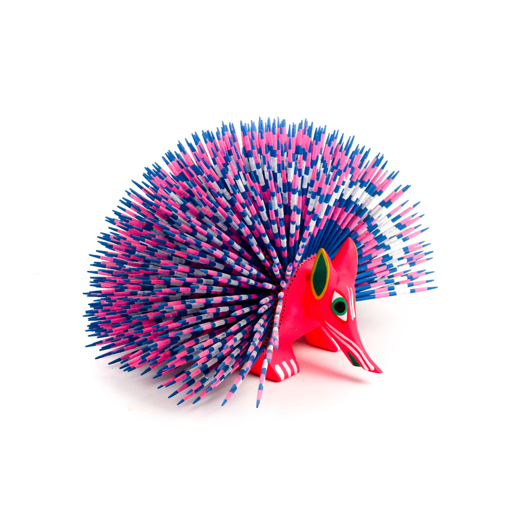 Porcupine - Oaxacan Alebrije Wood Carving Mexican Folk Art Sculpture - VivaMexico.com