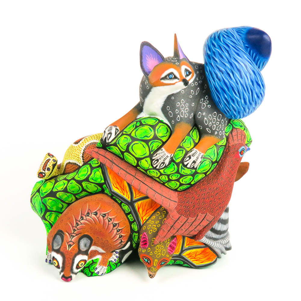 Group of Animals - Oaxacan Alebrije Wood Carving - Eleazar Morales - VivaMexico.com