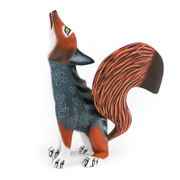 Gorgeous Coyote - Oaxacan Alebrije Wood Carving - Eleazar Morales