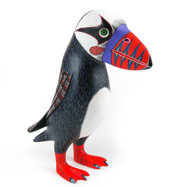 Puffin - Oaxacan Alebrije Wood Carving Mexican Folk Art Sculpture