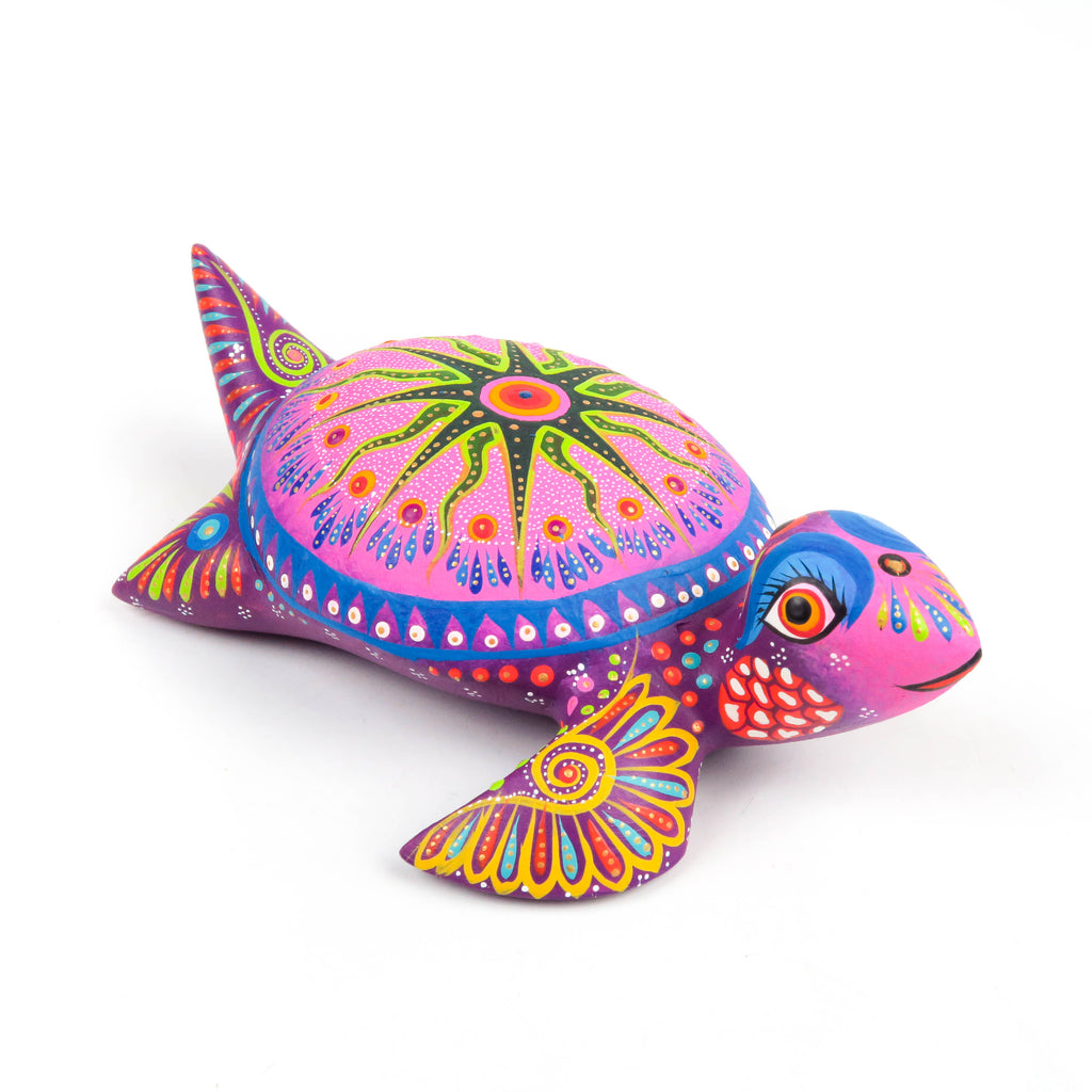 Colorful Turtle - Oaxacan Alebrije Wood Carving Sculpture - VivaMexico.com