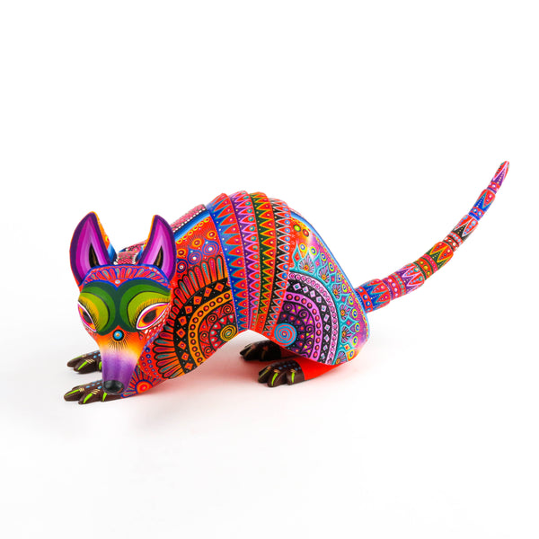 Armadillo - Oaxacan Alebrije Wood Carving Sculpture - VivaMexico.com