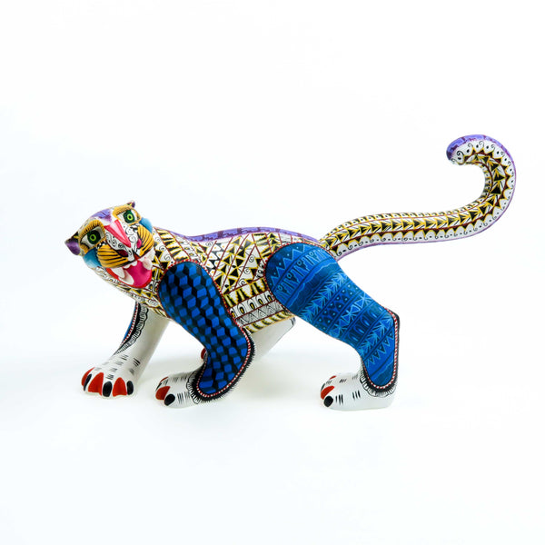 Zapotec Jaguar - Oaxacan Alebrije Wood Carving Sculpture - VivaMexico.com