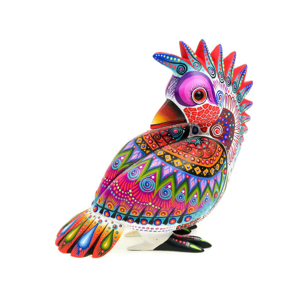 Exquisite Quetzal Bird - Oaxacan Alebrije Wood Carving Sculpture - VivaMexico.com