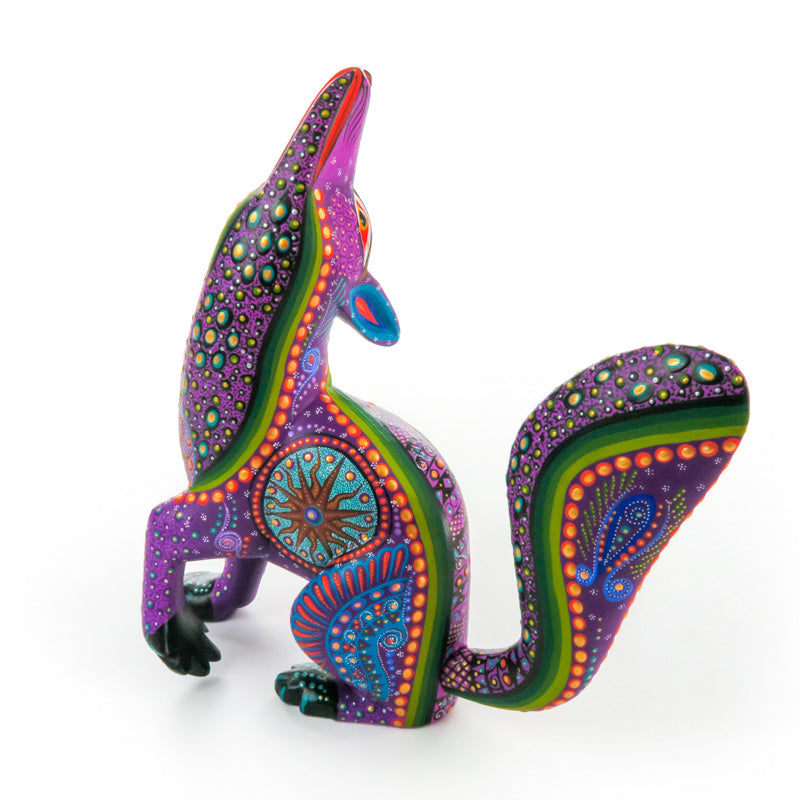 Majestic Coyote - Oaxacan Alebrije Wood Carving - VivaMexico.com