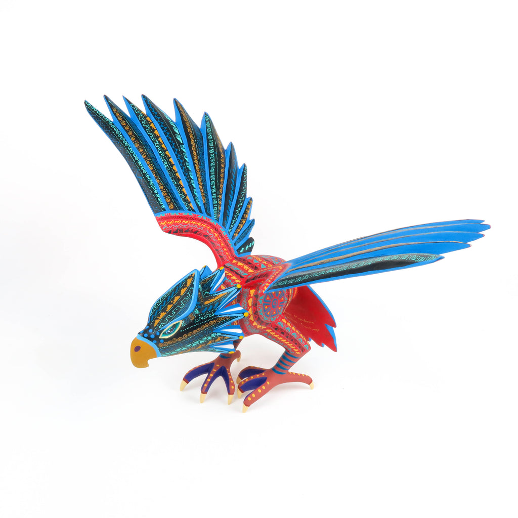 Eagle - Oaxacan Alebrije Wood Carving Sculpture - VivaMexico.com