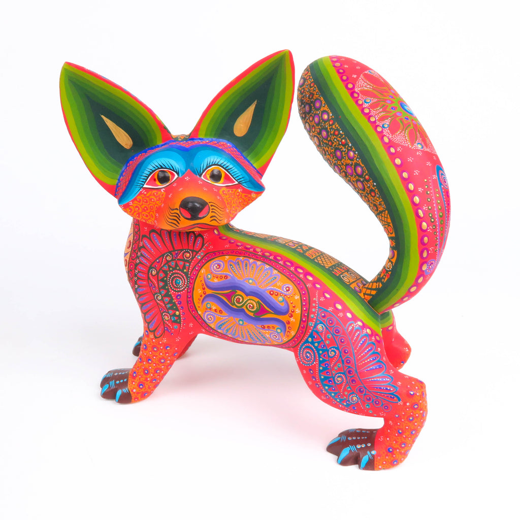 Fantastic Dog - Oaxacan Alebrije Wood Carving Sculpture - VivaMexico.com