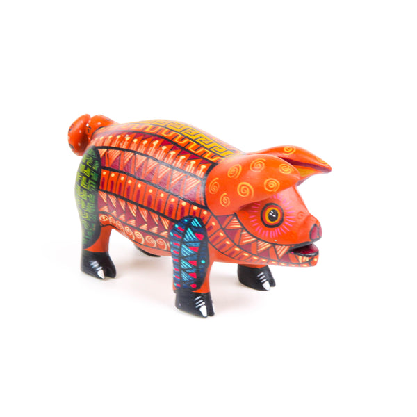 Cute Pig - Oaxacan Alebrije Wood Carving