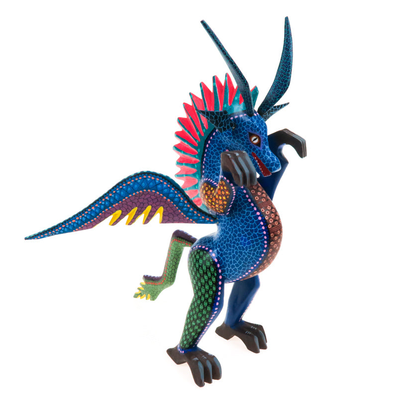 Dragon - Oaxacan Alebrije Wood Carving - VivaMexico.com