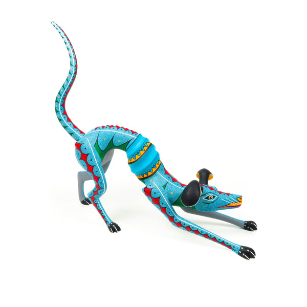Thin Dog - Oaxacan Alebrije Wood Carving - VivaMexico.com