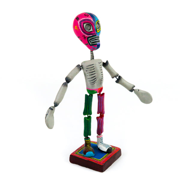 Skeleton Luchador Wrestler - Clay Mexican Folk Art