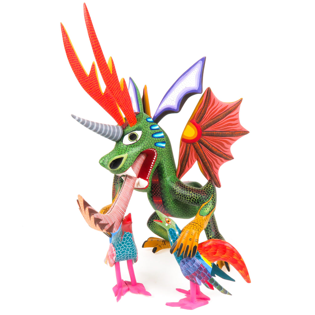 Masterpiece Dragon - Oaxacan Alebrije Wood Carving - VivaMexico.com