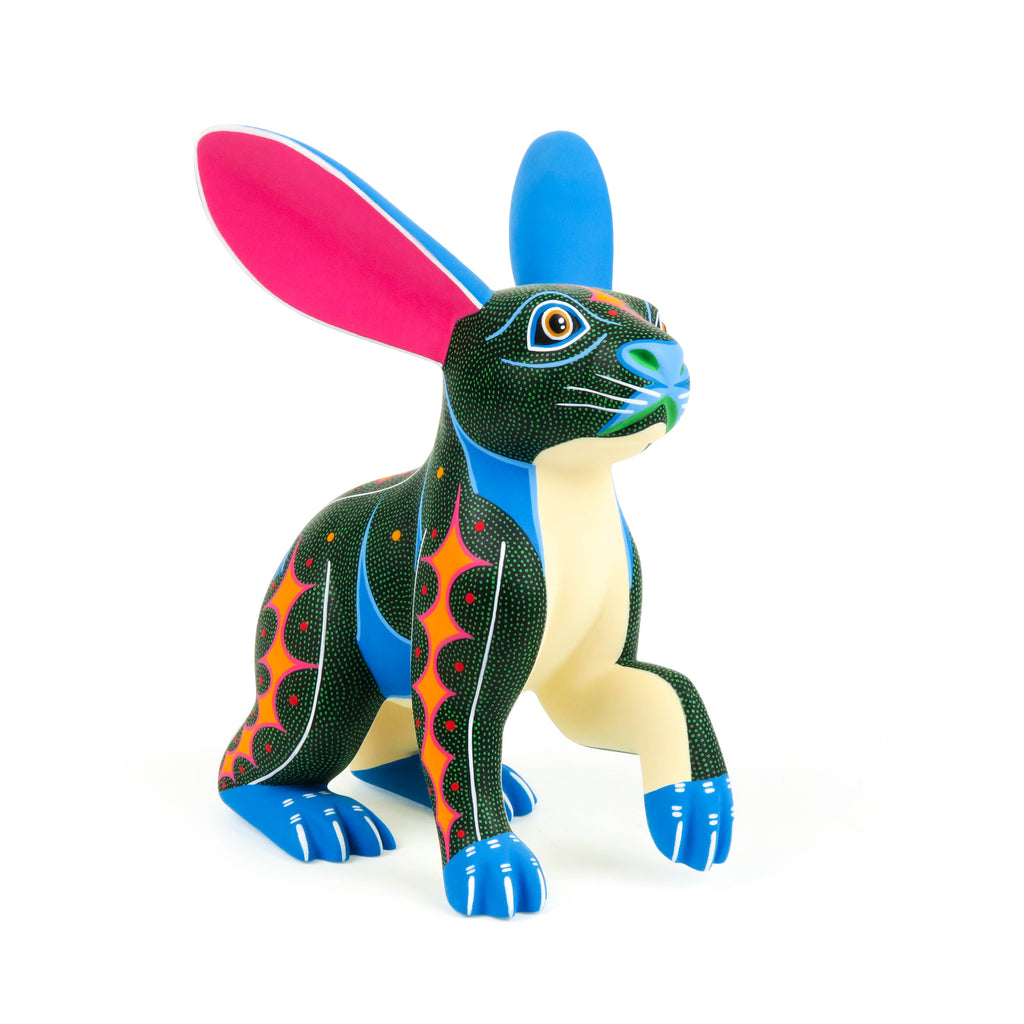 Rabbit - Oaxacan Alebrije Wood Carving - VivaMexico.com