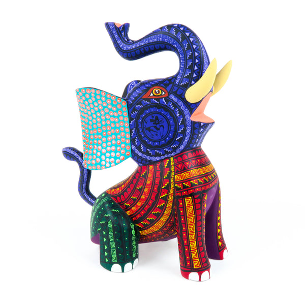 Joyful Elephant - Oaxacan Alebrije Wood Carving