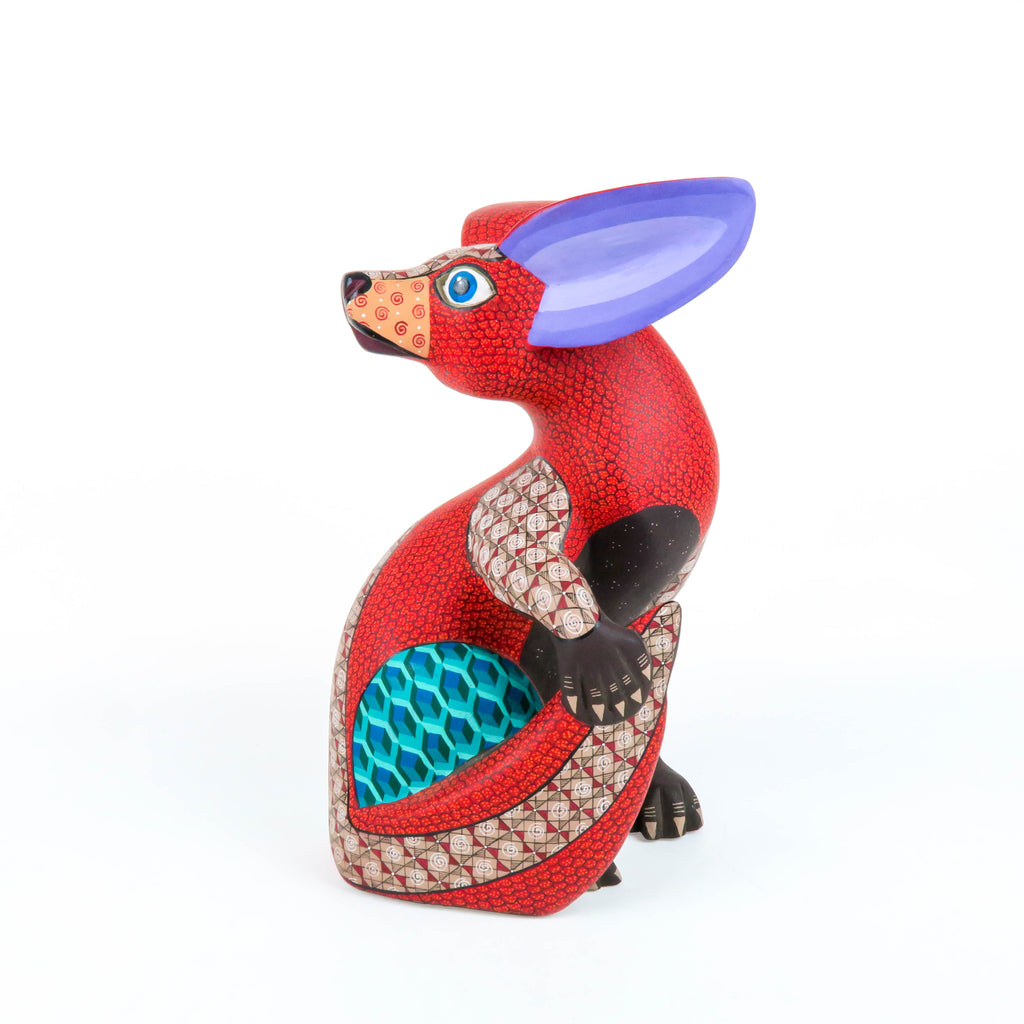 Turning Fox - Oaxacan Alebrije Wood Carving